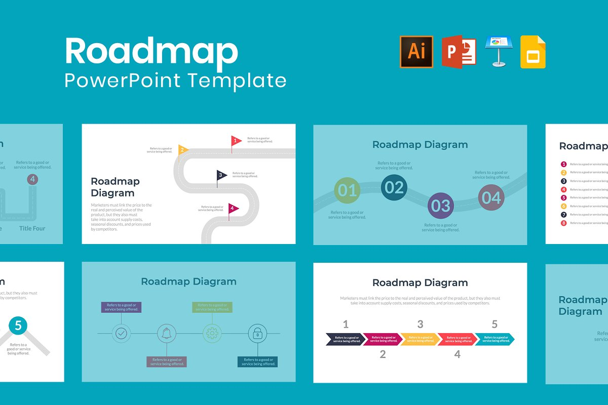Roadmap PowerPoint Template ~ Keynote Templates ~ Creative Market