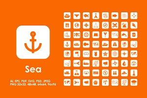64 sea icons