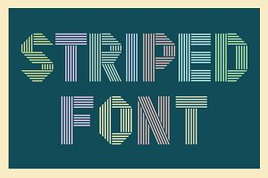 Striped retro font