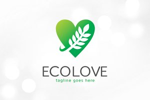 Eco Love Logo template