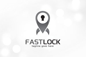 Fast Secure Lock Logo Template