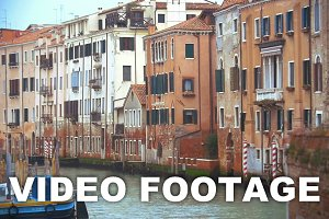 Venice cityscape with old style