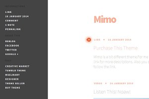 Mimo - Clean Tumblr Theme