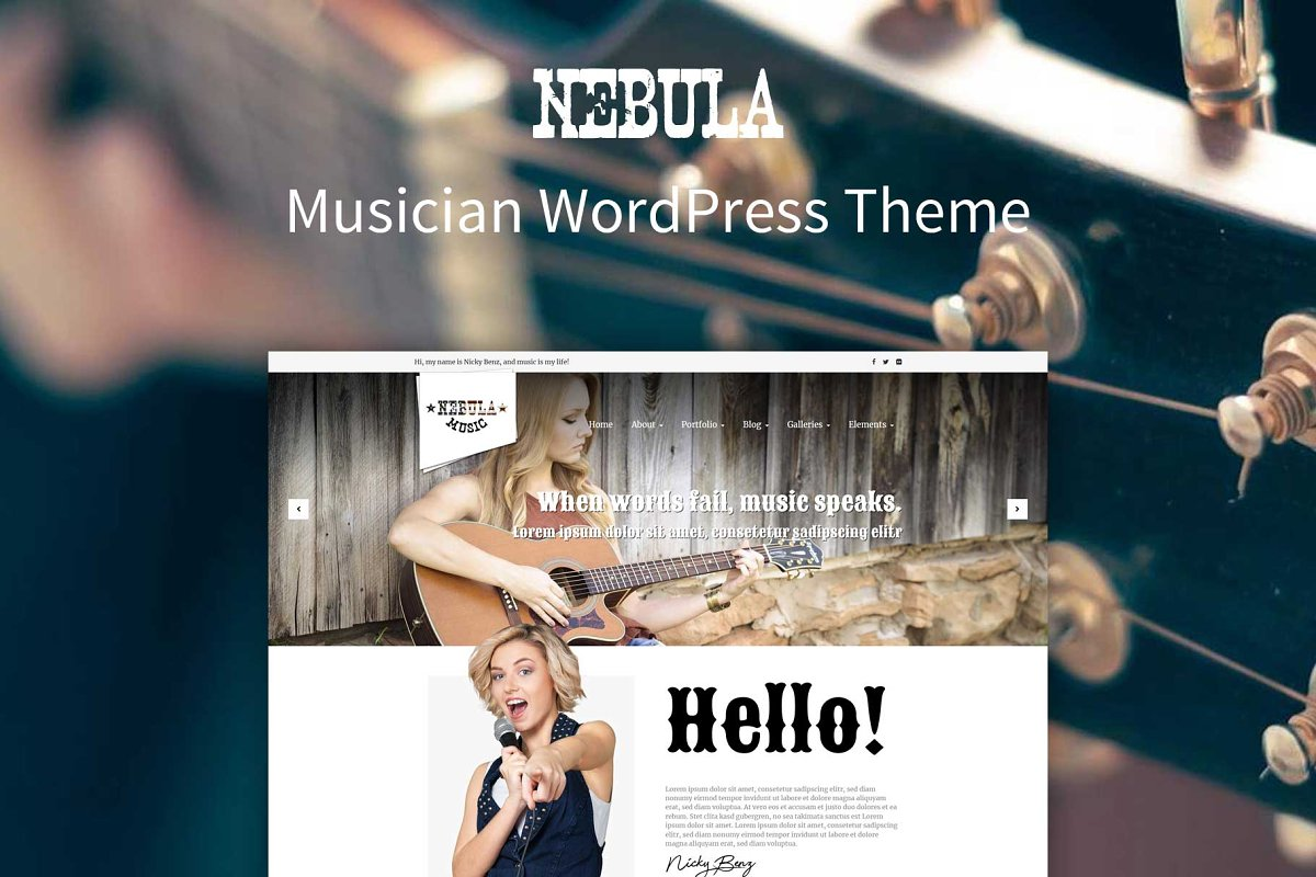 Nebula - Musician WordPress Theme