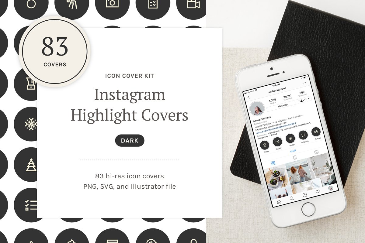 Instagram Highlights Icon Kit