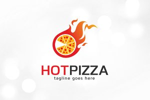 Hot Pizza Logo Template