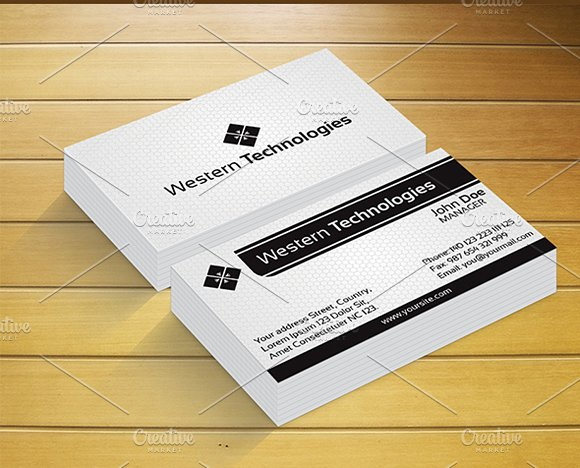 Western technology business card business card templates western technology business card business card templates creative market colourmoves