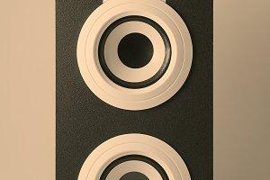 Music loudspeaker in retro style