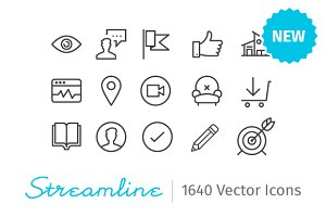 Streamline Essential - 2000 icons