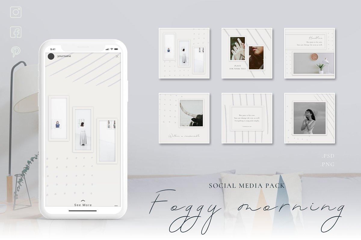 Foggy morning - Social Media Pack