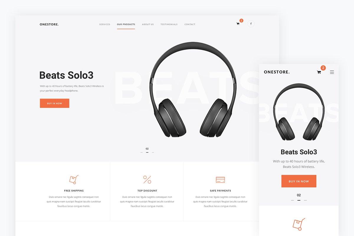 Onestore — Store HTML Template