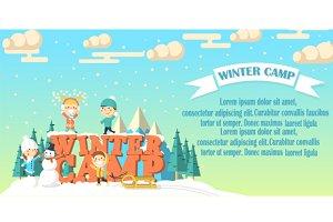 Winter camp banner