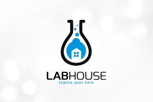 Lab House Service Logo Template