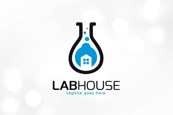 Lab House Service Logo Template