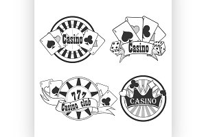 Casino and gambling badges or emblem