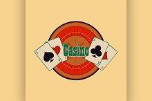 Casino and gambling emblem