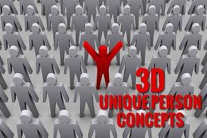 Bundle of 3D Unique Person Concepts