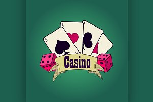 Casino and gambling emblem