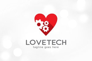 Love Technology Logo Template