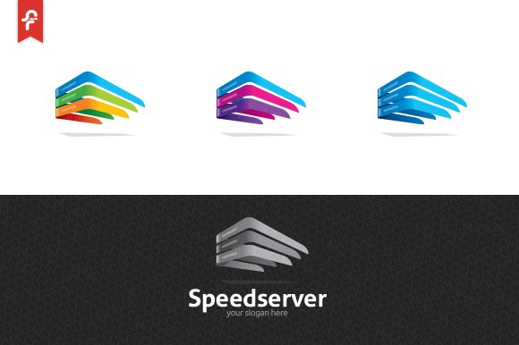 Speed Server Logo in Logo Templates - product preview 3