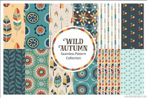 Wild Autumn Seamless Patterns