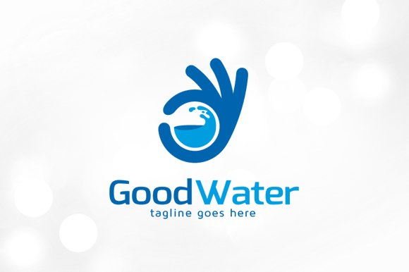 Good Water Logo Template ~ Logo Templates ~ Creative Market