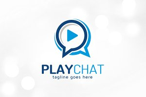 Play Chat Logo Template