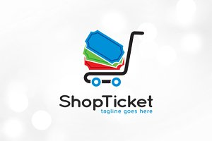 Shop Ticket Logo Template