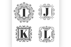 Set of classical logo or monogram