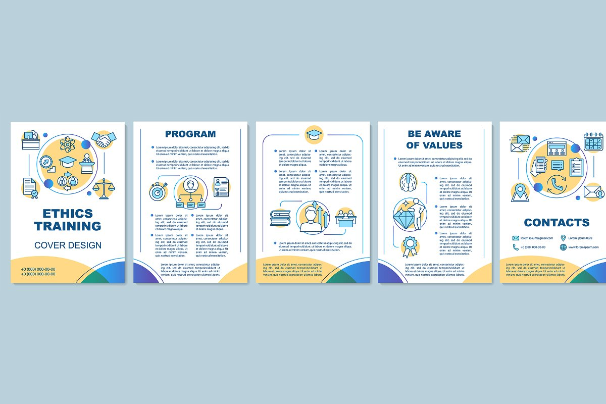 Business ethics courses brochure