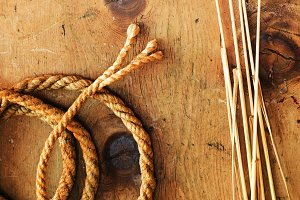 Vintage wheat and rope 2