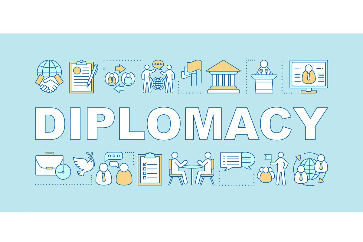 Diplomacy word concepts banner