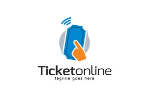 Ticket Online Logo Template