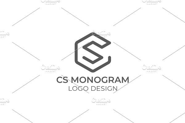 S C Logo Design Creative Illustrator Templates Creative Market