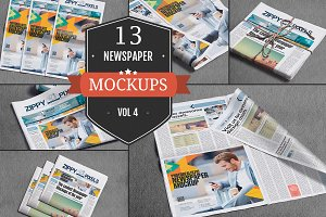 Professional Newspaper Mockups Vol.4