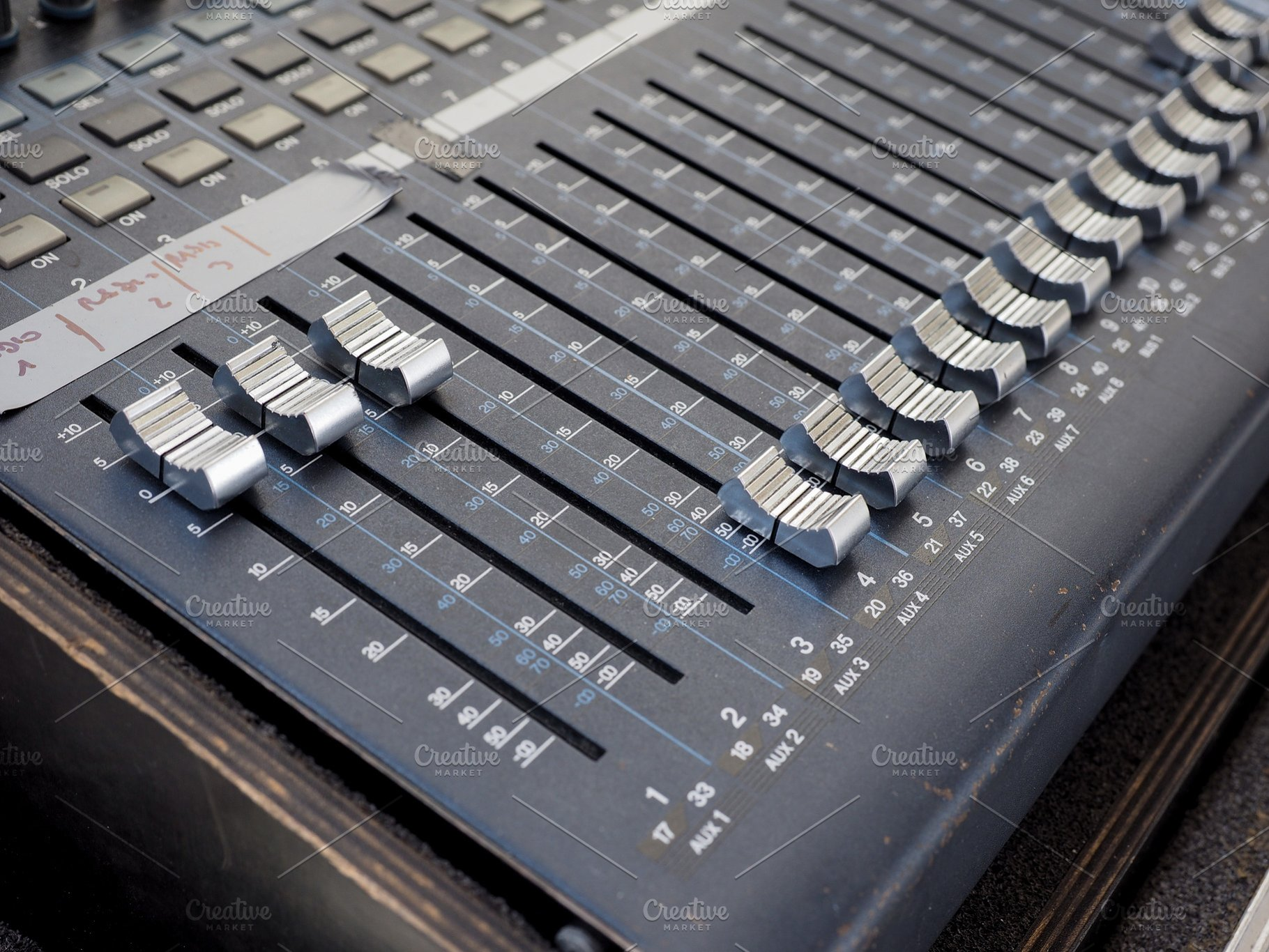 Soundboard mixer detail