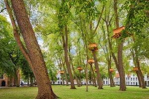 Bruges park Begijnhof