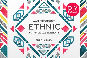 Watercolor Ethnic Set (DIY PACK)
