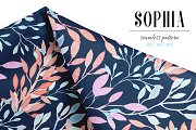 Sophia seamless botanical pattern