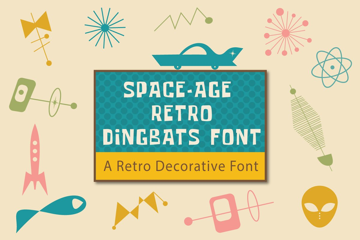 Space-Age Retro Dingbats Font