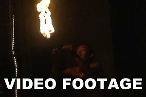 Fire Show Artist Blow Fire