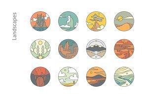 12 Landscape Icons