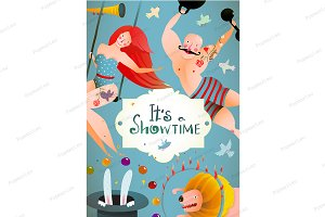 Circus Carnival Show Vintage Poster