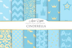 Cinderella Priness Digital Paper