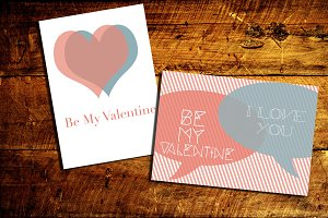 Valentine's day posters and cards