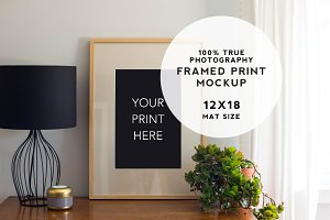 Home Series Framed Print Mockup #1