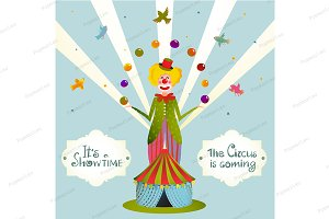 Circus Show Clown Carnival Poster