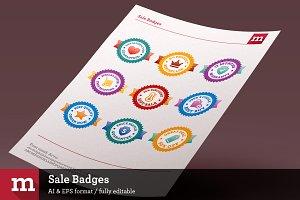9 Colorful Sale Badges