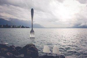 Vevey famous steel fork