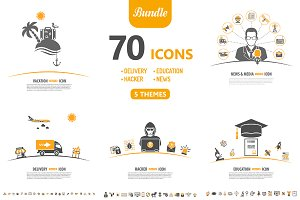 70 Icons in 5 Themes